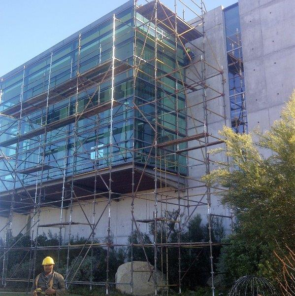 glass wall and roof joint sealing, roof waterproofing & metal cladded flashing with sealing